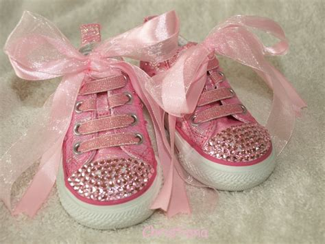 baby sparkly shoes baby infant pink sparkly bling converse trainer
