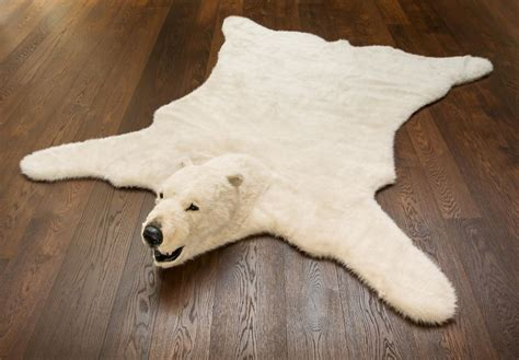 Natural Rugs Online Add Some Classic White To Your Home With Fluffy Polar Bear
