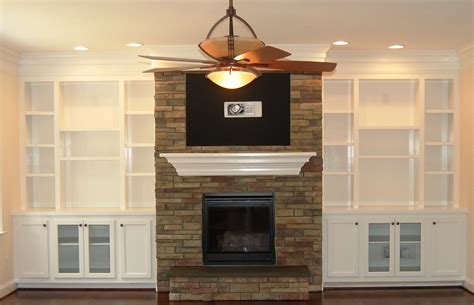 bookcases around fireplace living room white wooden bookcase with