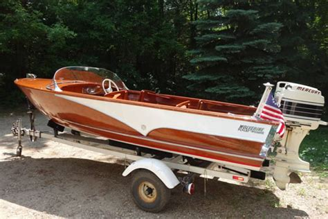 1957 wolverine 16 aluminum boat for sale in wolverine ladyben classic wooden boats for sale