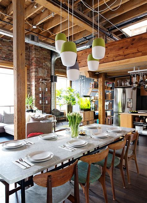 Eclectic Dining Room Chairs by 30 Ways To Create A Trendy Industrial Dining Room