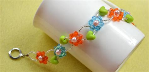 how to make flower bracelets with glass bead flower bracelet family crafts