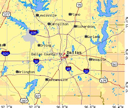 dallas texas county map dallas county map my