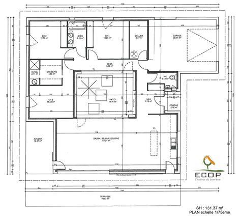 plan de maison avec patio plan du patio d une maison rt 2012 du constructeur ccmi