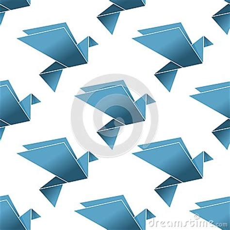 origami japanese paper folding web page seamless pattern of origami pigeons and doves royalty free