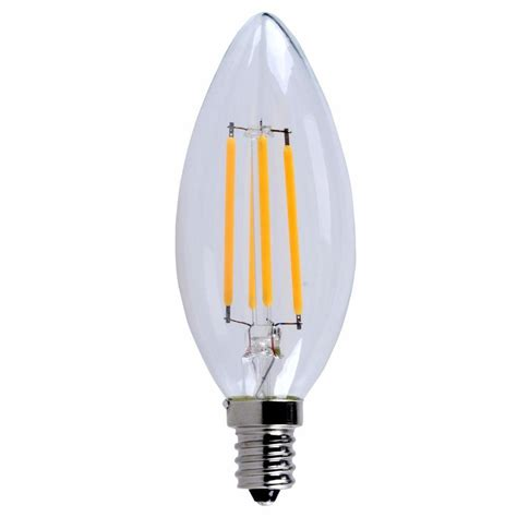 E12 Led Light Bulbs Lighting 40w Equivalent Soft White E12 Dimmable Led Filament Light Bulb E12led101 The