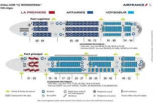plan de cabine du airbus a380 d air compagnies