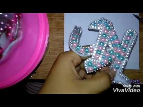 youtube membuat bros tutorial cara membuat bros abjad full mutiara diamond