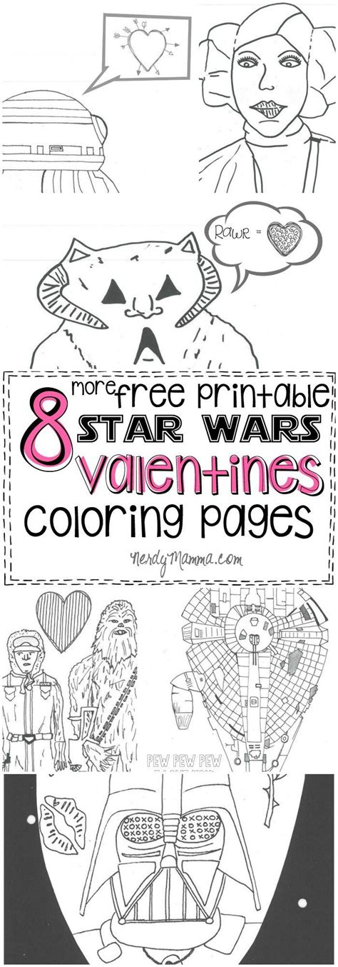 star wars valentines coloring page 8 more star wars inspired valentines coloring pages to