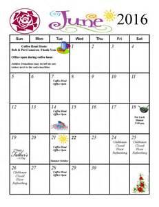 Calendar June 2016 June 2016 Event Calendar