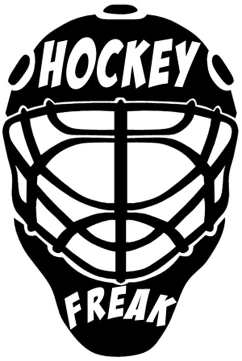 Eishockey Helm Sticker by Hockey Freak Goalie Mask Car Or Truck Window Decal Sticker