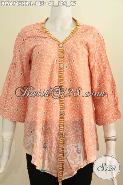 Blouse Batik Cap Encim Pastel batik blus halus bahan kain busana batik wanita