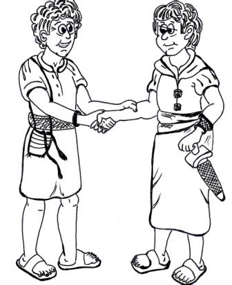 Creation Sunday School Lesson David And Jonathan Coloring Page