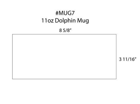 Ceramic Mug 11oz Dolphin 11 Oz Mug Template Size