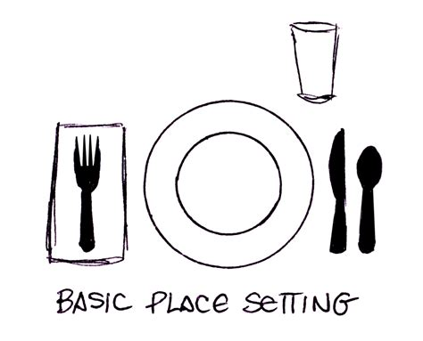simple place setting remedial adulthood how to set a table