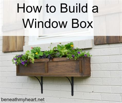 how to build a window box planter best projects of 2015 beneath my