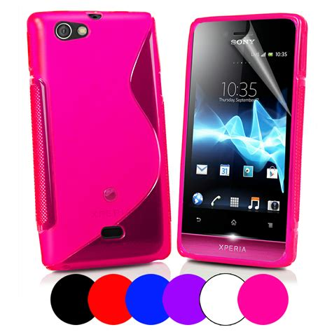 s line wave gel cover for sony st23i xperia miro screen protector ebay