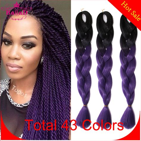 synthetic or human hair box braids 10pcs ombre kanekalon braiding hair 24 synthetic braiding