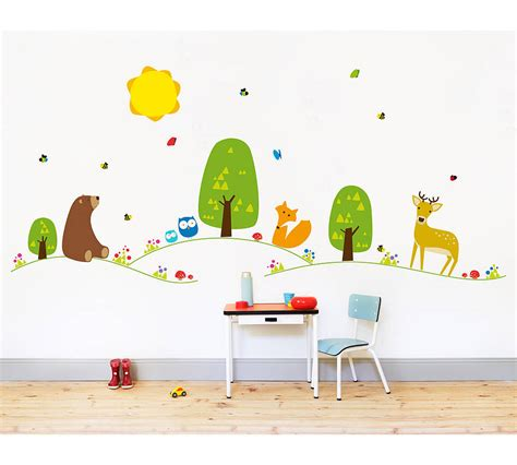 Forest Nursery Wall Decals Farm Or Forest Nursery Wall Stickers By Nubie Modern Boutique Notonthehighstreet