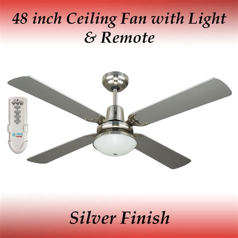 Ceiling Fans Winter Mode by Fias Ramo Silver 4 Blade Ceiling Fan With Light And Remote