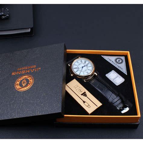 Jam Tangan Kasual Dengan Korek Elektrik Usb Hitam Silver jiaheng jam tangan romawi dengan korek elektrik usb black white jakartanotebook