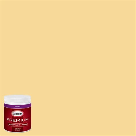 glidden premium 8 oz hdgy20u yellow duckling eggshell interior paint with primer tester