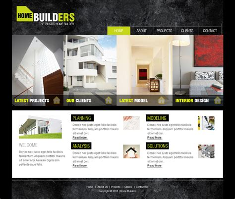 Templates For Architecture Website | web templates architecture by netspy9286 on deviantart