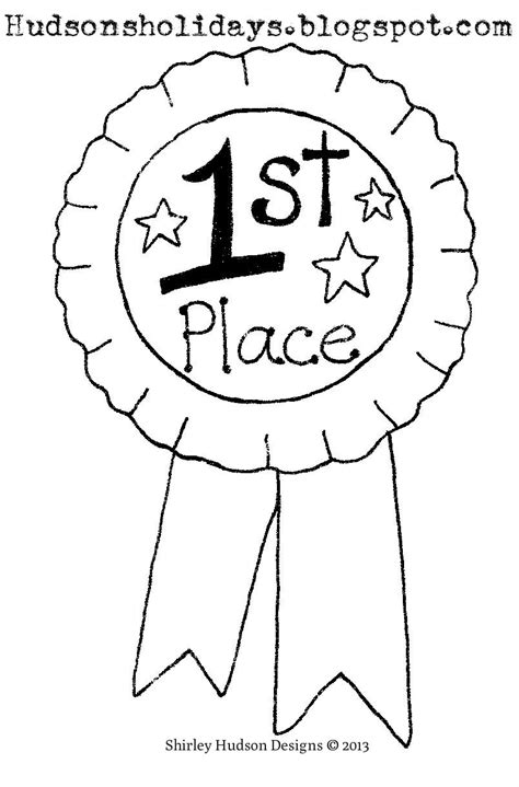 coloring page prize ribbon free coloring pages of 1st place ribbon