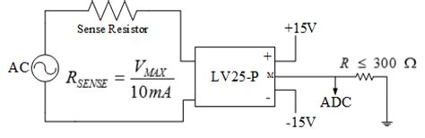 sensitive resistor output electronic free isolated ac voltage sensing using lv25 p