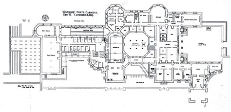 biltmore estate house plans biltmore house basement floorplan blueprints