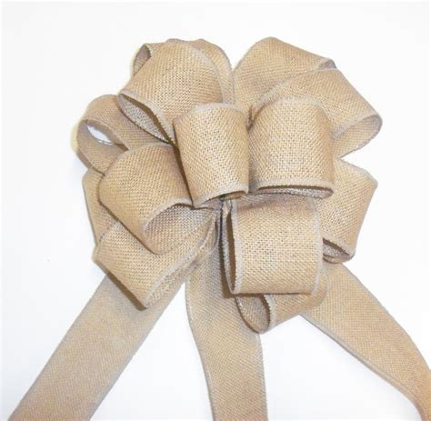 how to make a large bow for tree large burlap bow wedding bows burlap tree