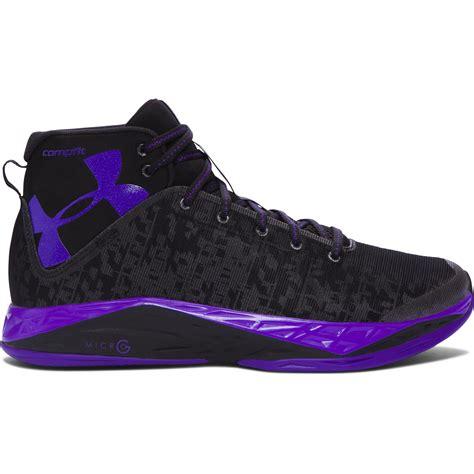 purple armour basketball shoes armour s ua fireshot basketball shoes in purple