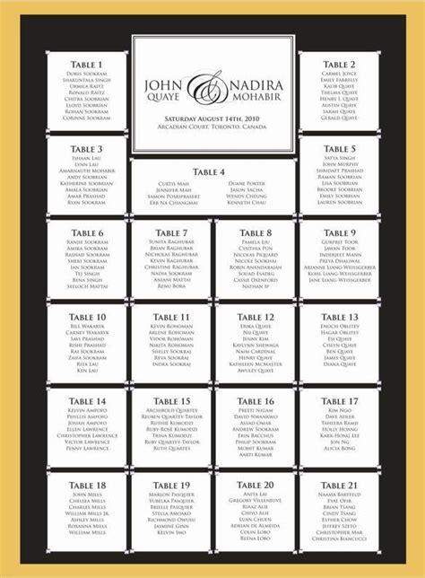 wedding seating chart template free premium templates