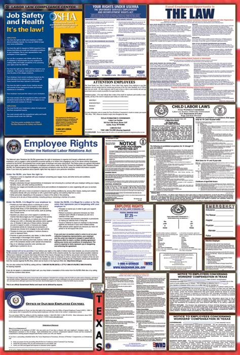 printable fmla poster texas labor law posters