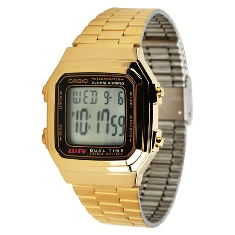 Casio Gold casio a178wga 1a mens gold stainless steel digital