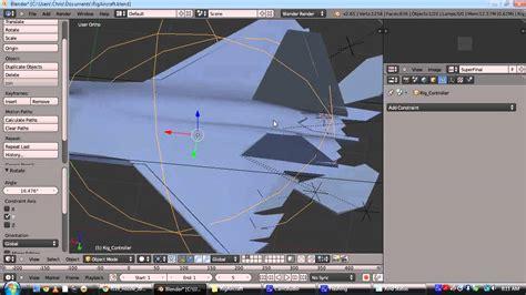 Blender Tutorial Aircraft | rigging an aircraft in blender youtube