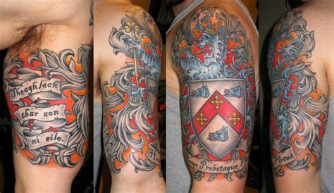 Banners Family Crest Tattoo Family Coat Of Arms Tattoos 2