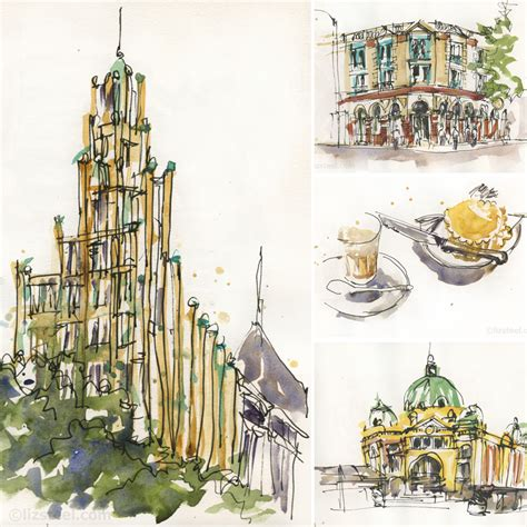 Five Minute Sketching Architecture melbourne trip 2016 part 6 sketching day with