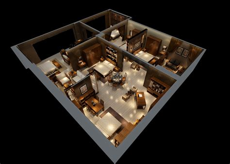 design of interior house two bedroom suite sectional view of interior design download 3d house