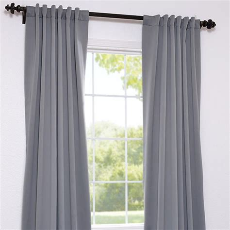 gray curtain panels exclusive fabrics and furnishings back tab neutral grey