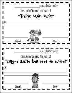 Leader In Me Worksheets by 7 Habits On Leader In Me Seven Habits And