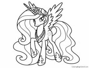 pony princess celestia 02 coloring coloring central