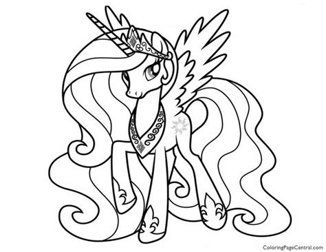 My Pony Coloring Pages Princess Free Coloring Sheets My Little Pony Princess Celestia 02 Coloring Page
