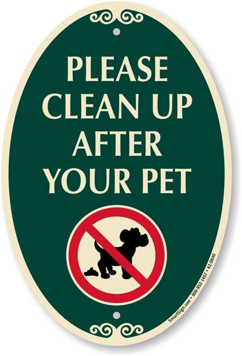 up after your signs clean up after your pet signature sign sku k2 0640