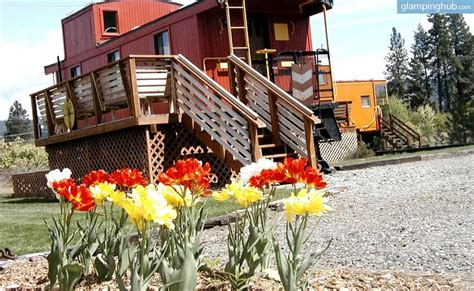 Small Vacation House Plans historical renovated caboose cars in washington cabin