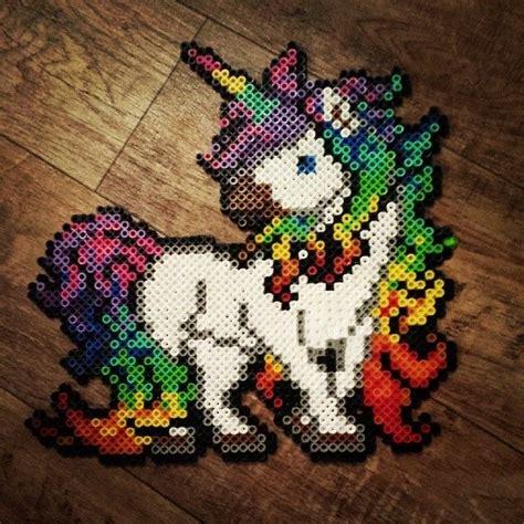 unicorn perler pattern rainbow unicorn perler beads by hnl plur plastic canvas