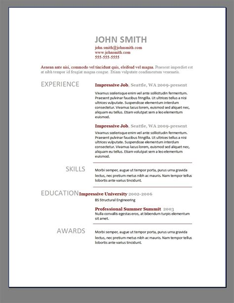 Microsoft Word Template For Resume by Resume Template Blank Pdf Planner And Throughout Free