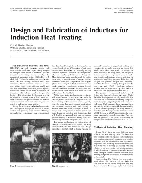 induction heating thesis design and fabrication of inductors for induction heat treating