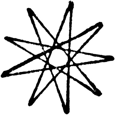 Drawing 9 Pointed by Triangular Nine Point Nanogram Clipart Etc