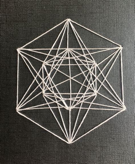 String Geometry - geometric string arts crafts ideas